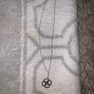 AUTHENTIC T&Co. Silver Clover Necklace